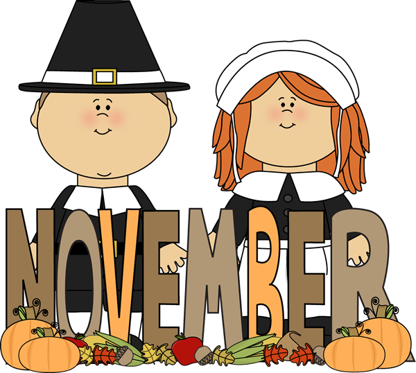 Month clip art svg royalty free download Free Month Clip Art | Month of November Pilgrims Clip Art Image ... svg royalty free download