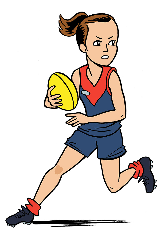 Clipart afl players clipart freeuse A Footy Girl\'s Guide\' - Phillip Marsden clipart freeuse
