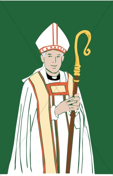 Clipart african american bishop picture free download Catholic Bishop with Staff | Clergy Clipart picture free download