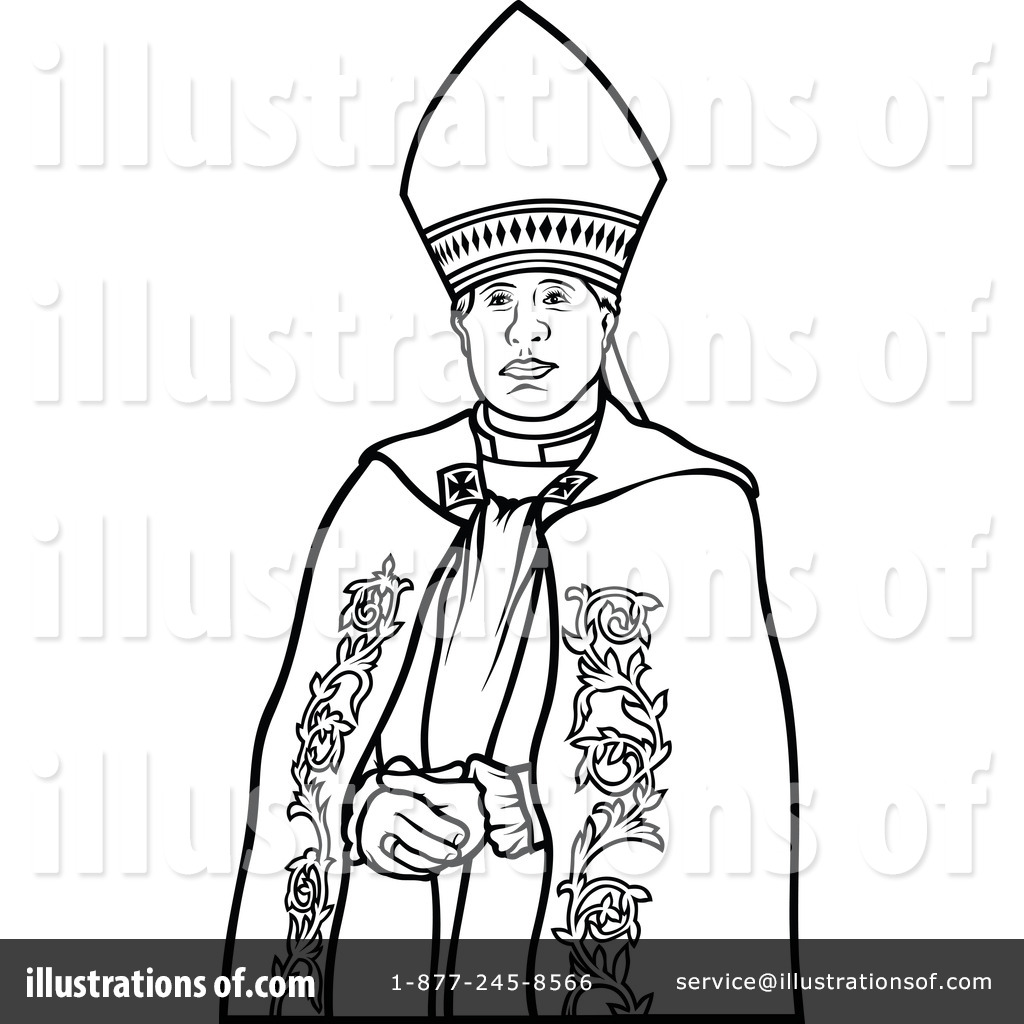 Clipart african american bishop graphic black and white stock Bishop Clipart #1297720 - Illustration by dero graphic black and white stock
