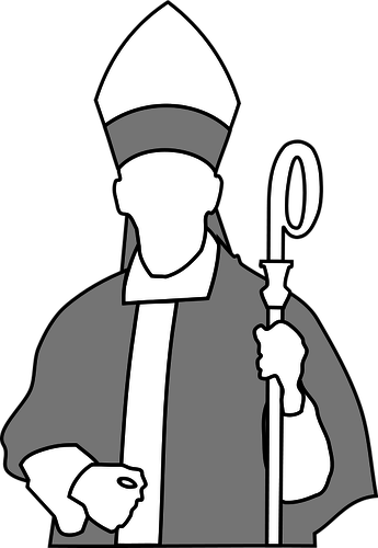 Clipart african american bishop graphic black and white stock Vector drawing of Christian bishop | Public domain vectors graphic black and white stock