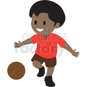 Clipart african american boy graphic black and white cartoon African American boy playing kickball clipart. Royalty-free clipart  # 409957 graphic black and white