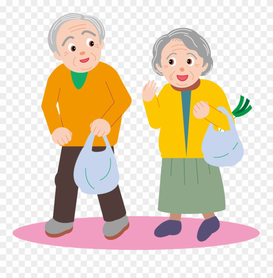 Clipart aging image free download Couple Drawing Cartoon Clip Art Elderly - Elderly Clipart - Png ... image free download
