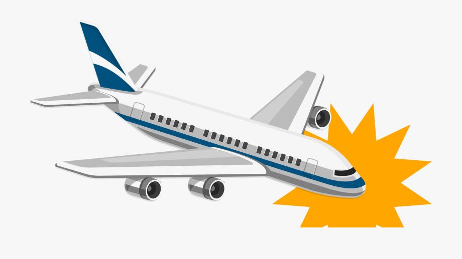 Clipart airlines crash freeuse stock Clip Art Cartoon Plane Crashing - Plane Crash Transparent Background ... freeuse stock