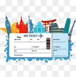 Clipart airplane ticket jpg free Flight ticket clipart 8 » Clipart Portal jpg free