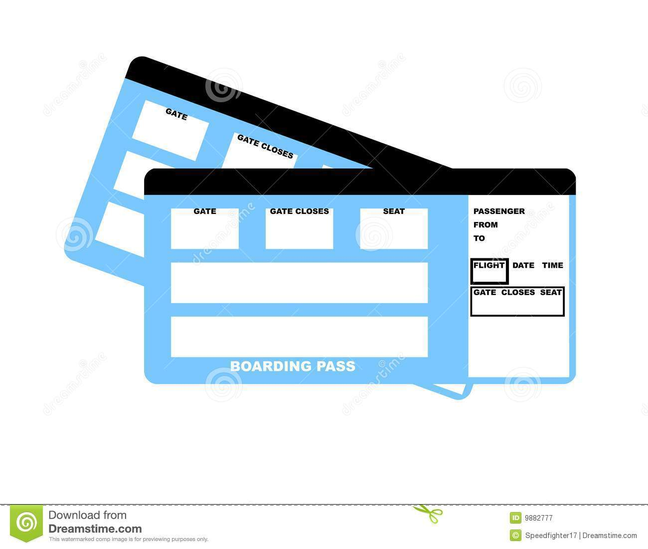 Clipart airplane ticket picture free Flight ticket clipart 6 » Clipart Portal picture free