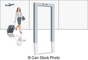 Clipart airport security. Illustrations and check modern