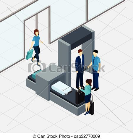 Clipart airport security image library stock Vector Clipart of Airport Security Check - Airport security check ... image library stock