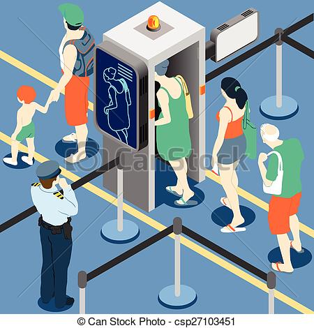 Vector clip art of. Clipart airport security