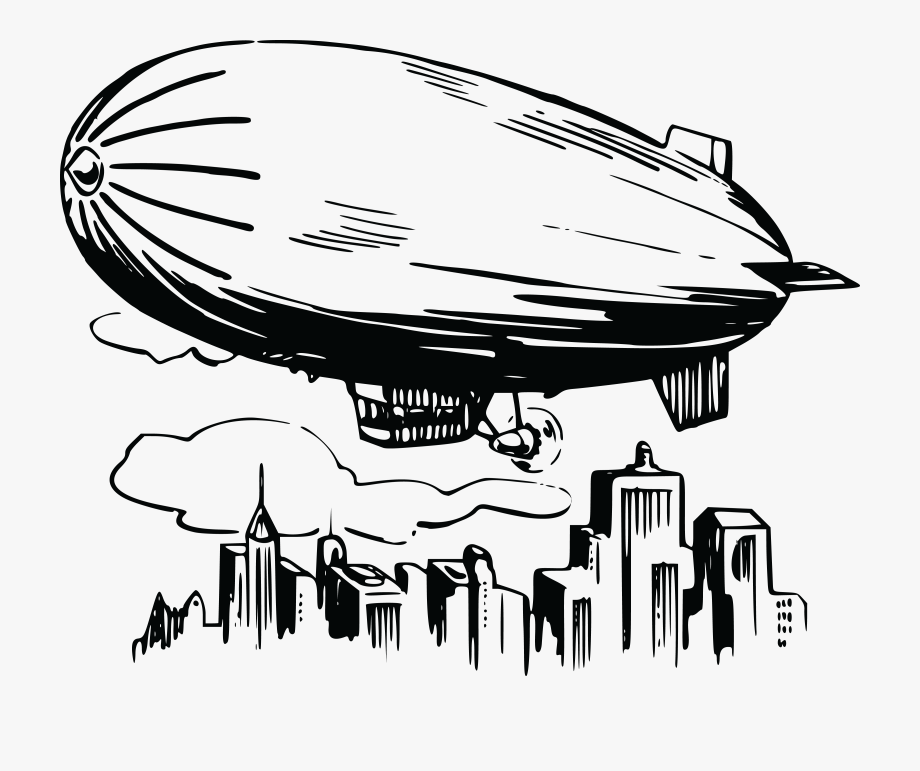 Clipart airship picture library stock Airship Free Clipart - Blimp Black And White, Cliparts & Cartoons ... picture library stock