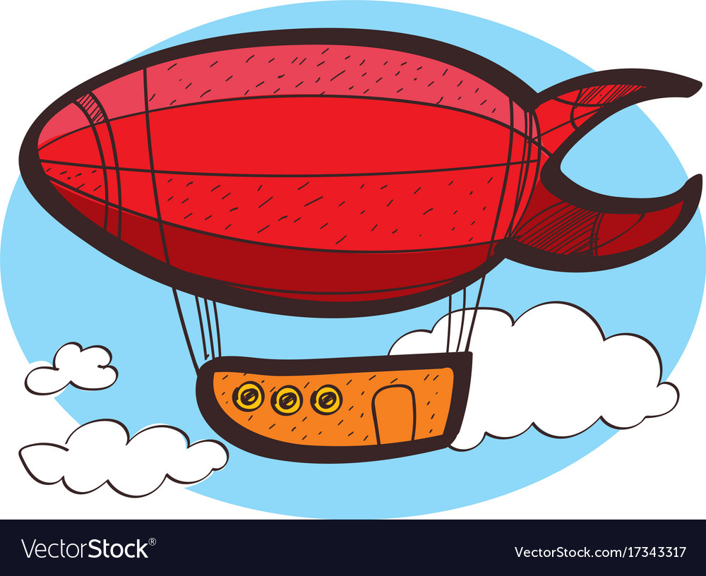 Clipart airship banner royalty free download Airship clipart color on a white background banner royalty free download