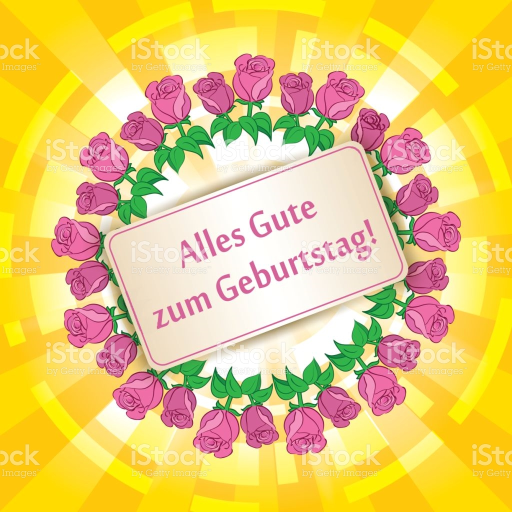 Clipart alles gute zum geburtstag clip library stock Alles Gute Zum Geburtstag Happy Birthday Yellow Background With ... clip library stock