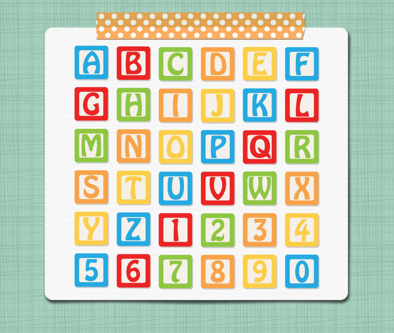 Clipart alphabet blocks. Quilt block clip art