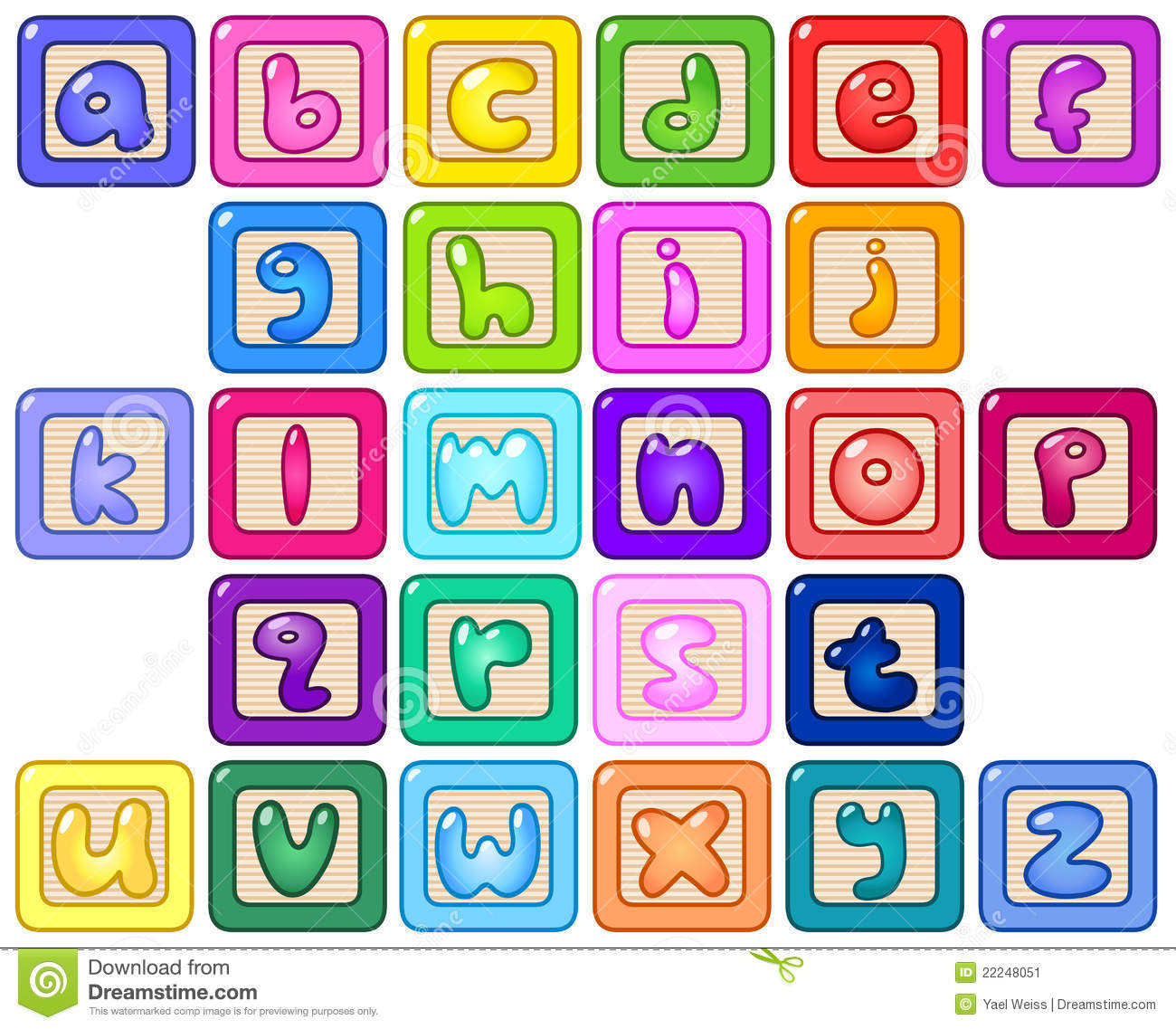Clipart alphabet blocks vector royalty free stock Alphabet Block Letters Clipart - Clipart Kid vector royalty free stock