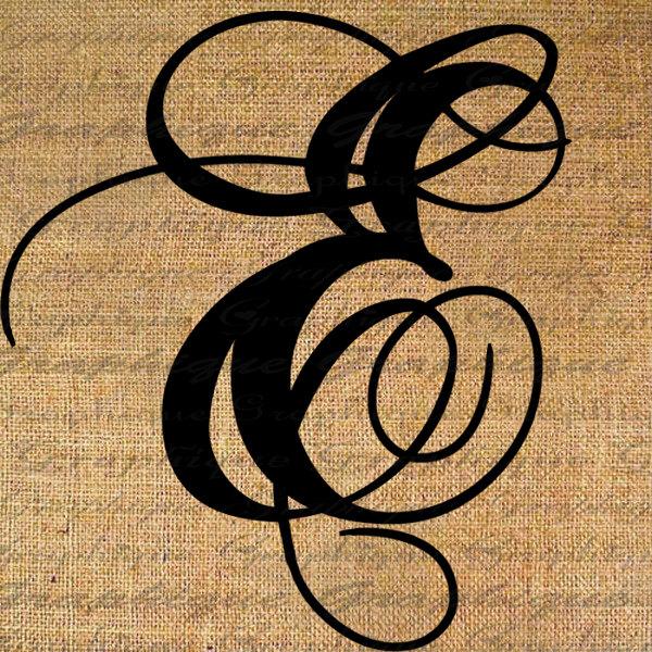 Clipart alphabet letter e on burlap. Monogram initial s clip