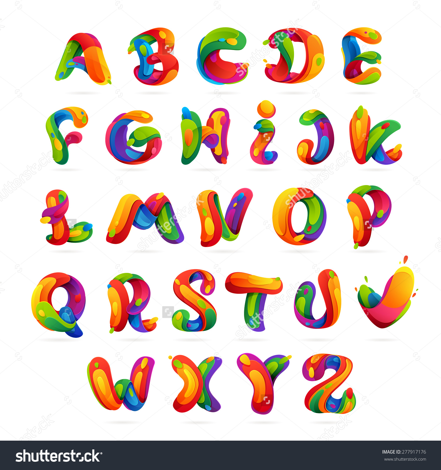 Clipart alphabet letter font banner library stock Fun English Alphabet Letters Set Font Stock Vector 277917176 ... banner library stock