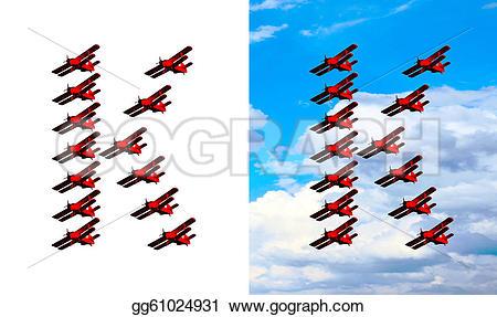 Clipart alphabet letter k travel clip transparent Stock Illustration - Letter k - original airplane alphabet ... clip transparent