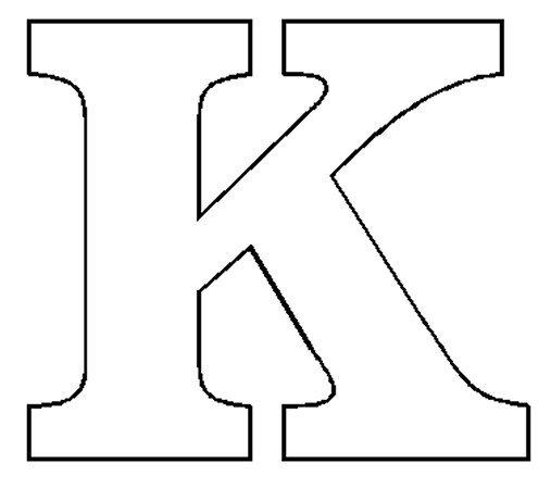 Clipart alphabet letter k travel banner royalty free library Clipart letter k outline - ClipartFox banner royalty free library