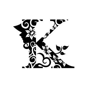 Clipart alphabet letters black and white k svg transparent Flower Clipart - Black Alphabet K with White Background   Download ... svg transparent