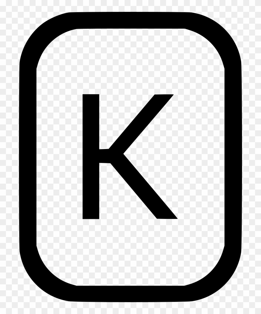 Clipart alphabet letters black and white k graphic library Uppercase Letter K Latin Alphabet Comments Clipart (#3053959 ... graphic library
