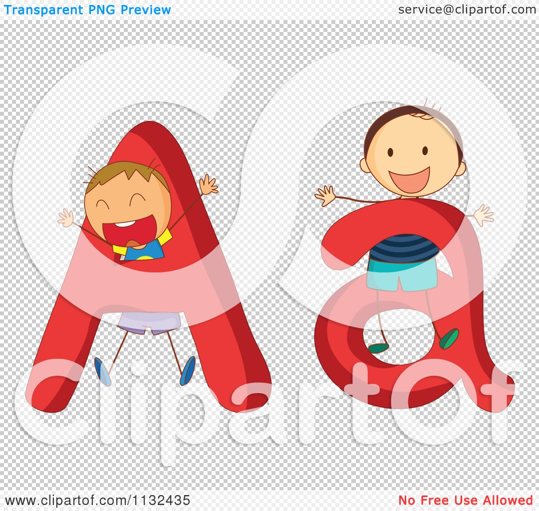 Clipart alphabet letters for kids. Cartoon of and a