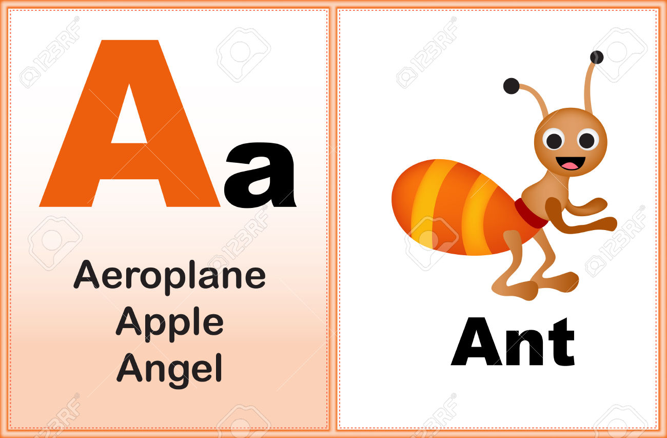 Letter a with clip. Clipart alphabet letters for kids