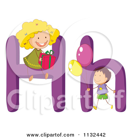 Clipart alphabet letters for kids. Cartoon of and h