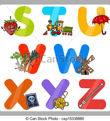 Clipart alphabet letters for kids graphic free library Alphabet kids clipart - ClipartFest graphic free library