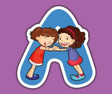 stock illustrations cliparts. Clipart alphabet letters for kids