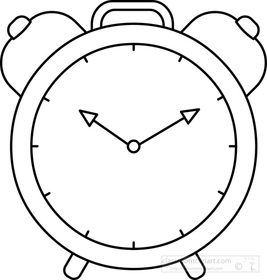 Clipart alrm clock outline graphic library library Alarm clock clipart black and white 3 » Clipart Station graphic library library