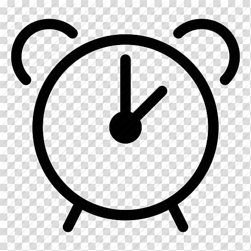 Clipart alrm clock outline jpg free Alarm Clocks Computer Icons , Clock Outline transparent background ... jpg free