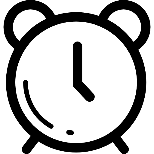 Clipart alrm clock outline clip free stock Alarm clock outline Icons | Free Download clip free stock