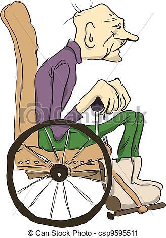 Clipart alter mann graphic transparent Old man in wheelchair clipart - ClipartFest graphic transparent