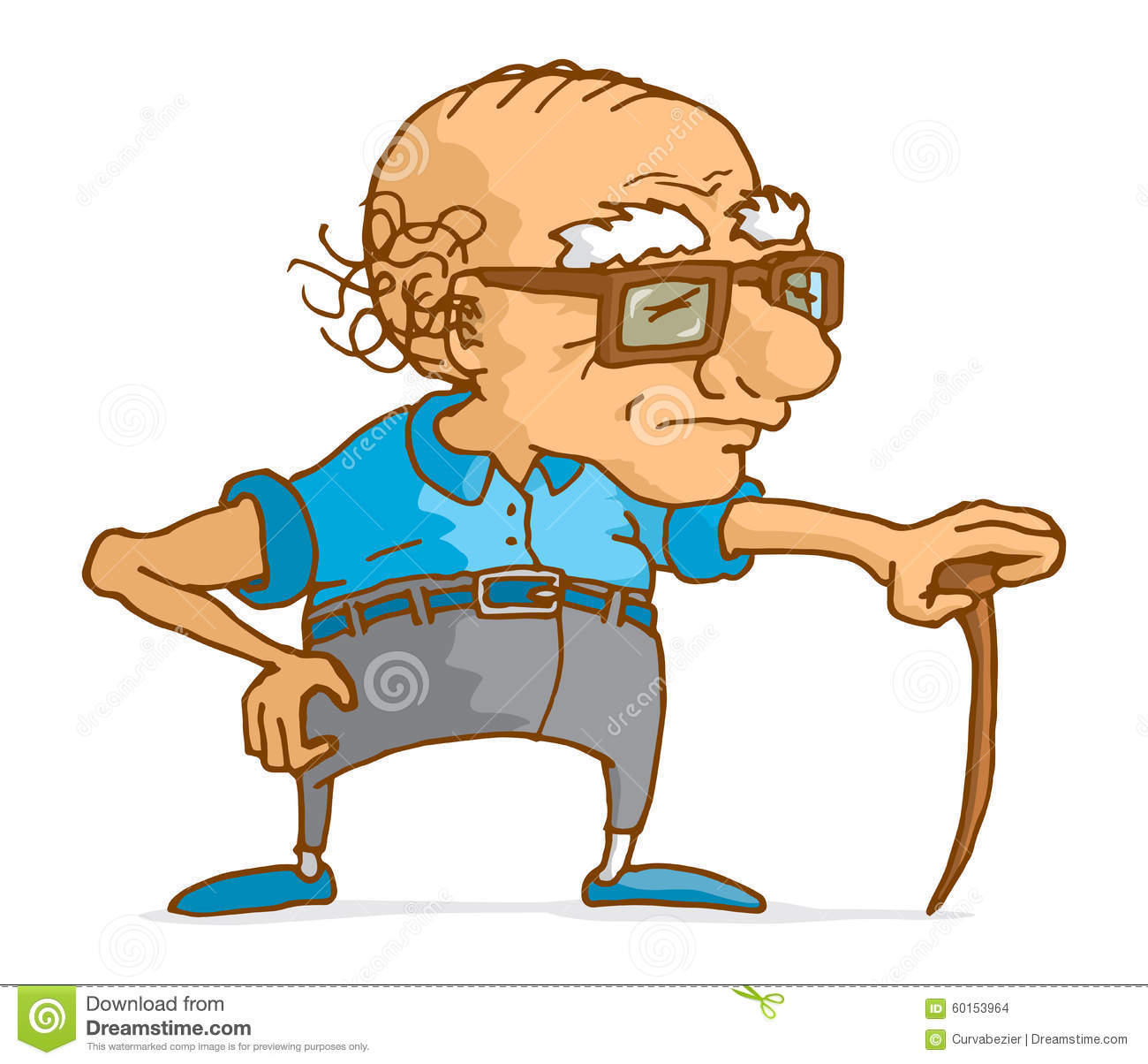 Clipart alter mann banner royalty free library Cartoon Active Old Man Stock Photos, Images, & Pictures - 466 Images banner royalty free library