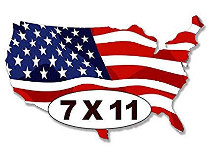 Clipart american flag in the shape of usa png transparent download Large USA Shaped American Flag Sticker (Proud America us Big Patriotic) png transparent download