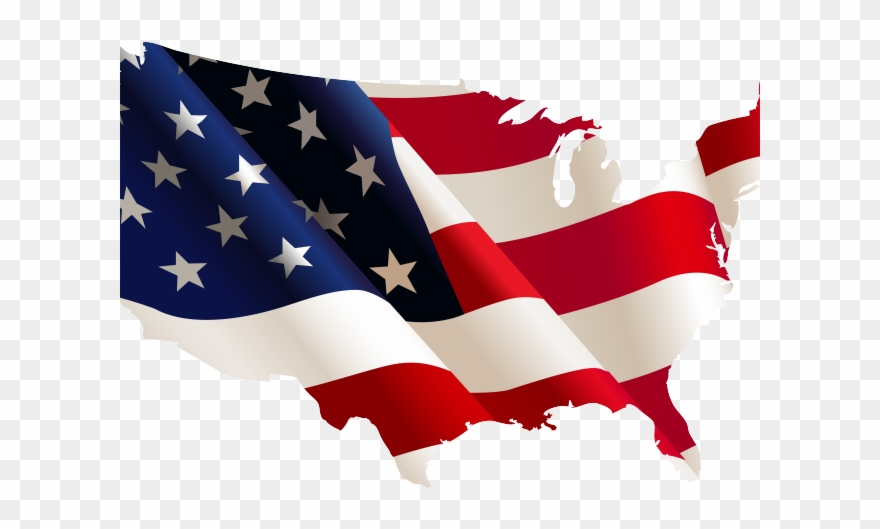 Clipart american flag in the shape of usa clip art royalty free Free American Flag Clipart - United States Flag Shape - Png Download ... clip art royalty free