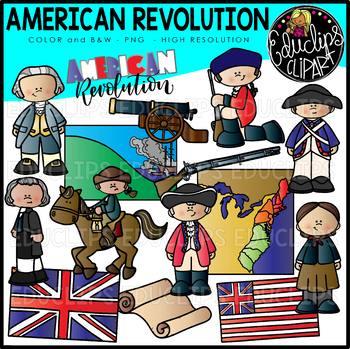American revolution american soldier clipart image black and white American Revolution Clip Art Set {Educlips Clipart} image black and white