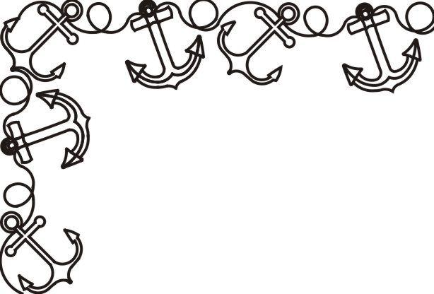 Clipart anchor border vector download Anchor Border Clip Art | Bathroom Mirror | Clip art, Drawings ... vector download
