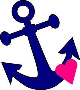 Clipart anchor free svg freeuse library Anchor With Heart clip art - vector clip art online, royalty free ... svg freeuse library