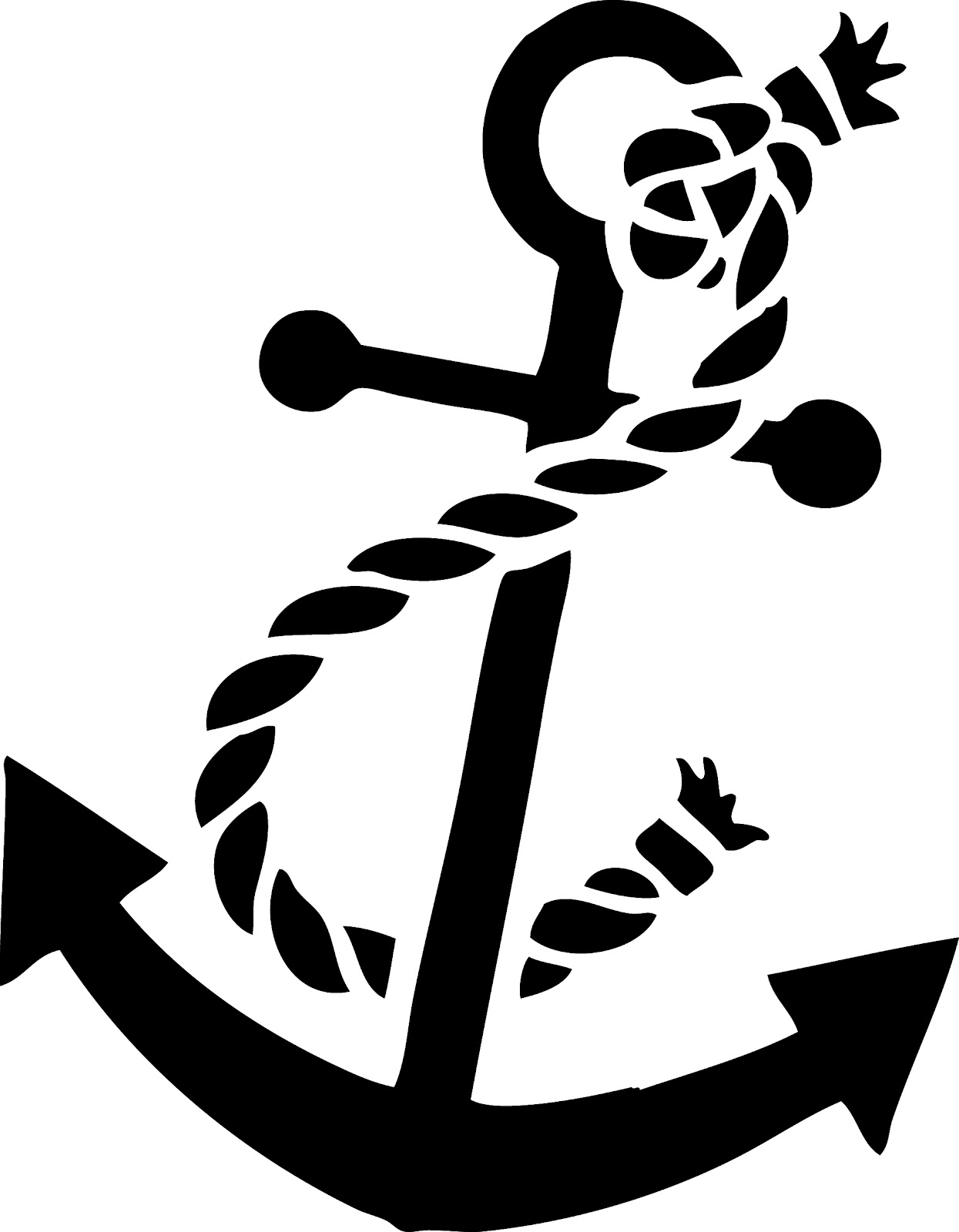 Clipart anchor logo free stock Nautical Anchor With Rope Clipart - Clipart Kid free stock