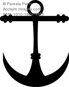 Clipart anchor silhouette jpeg clip art freeuse stock Clip Art Image of an Anchor Icon Silhouette - Acclaim Stock ... clip art freeuse stock