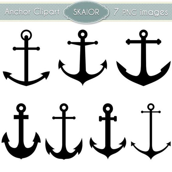 Clipart anchor silhouette jpeg. Vector clip art nautical