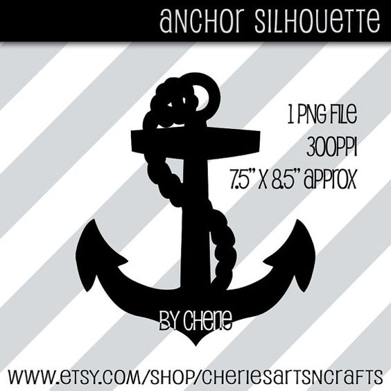 Clipart anchor silhouette jpeg jpg royalty free download Anchor Silhouette Clip Art, Large PNG File, Great for Resizing to ... jpg royalty free download