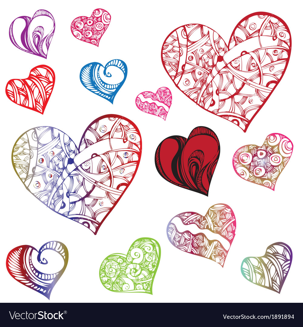 Clipart and jpeg difference svg transparent Clipart hearts in different shapes and colorings svg transparent
