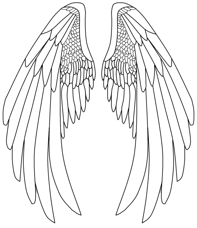 Clipart angel star wars x wing black and white library Pin by kalnaiorsolya on rajzok | Pinterest | Angel wings, Angel and ... black and white library