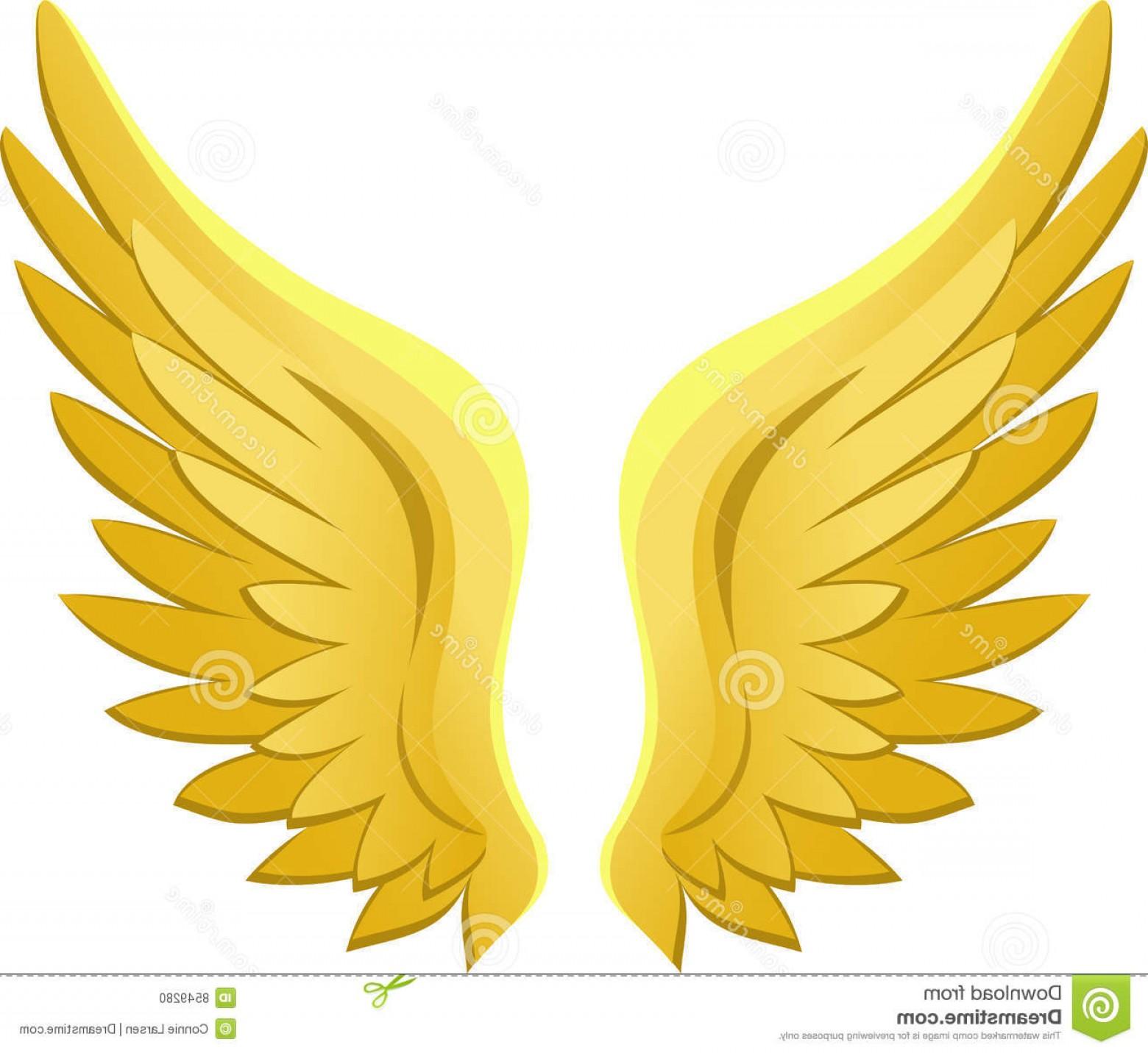 Clipart angel wings gold jpg stock Stock Photo Golden Angel Wings Eps Image | CQRecords jpg stock
