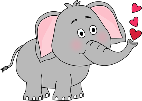 Clipart animal hearts png library library Elephant Blowing Hearts Clip Art - Elephant Blowing Hearts Image ... png library library