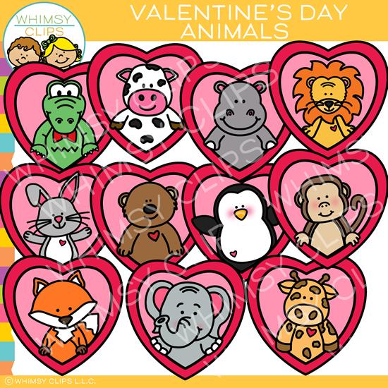 Clipart animal hearts clip download Valentine Animal Clip Art clip download