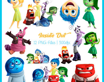 Clipart animated character icon inside out banner library library Inside out clipart   Etsy banner library library
