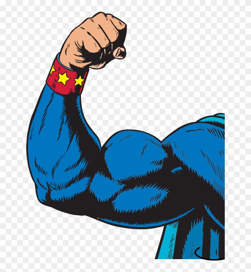 Clipart animated flexiong arm vector freeuse stock Superhero Arm - Arm Flexing Clipart (#1158300) - PinClipart vector freeuse stock